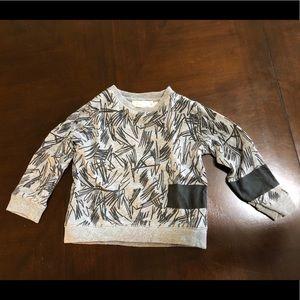 Stella McCartney Boy's Shirt Gray and Black Size 3